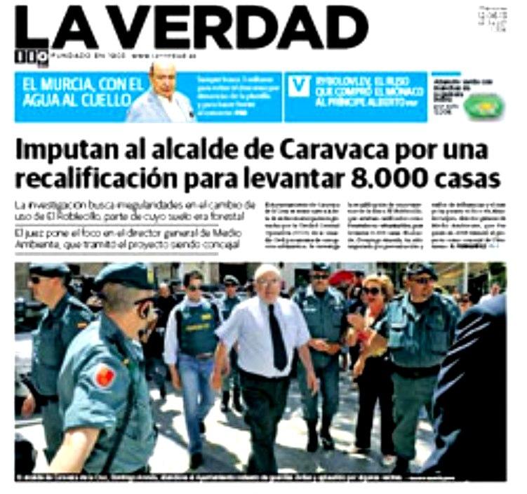 El juez imputa al alcalde de Caravaca y pone en la mira al director general de Medio Ambiente
