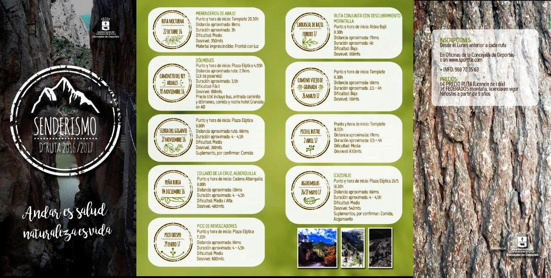 La Concejalía de Deportes programa nueve rutas de senderismo para fomentar el deporte en la naturaleza